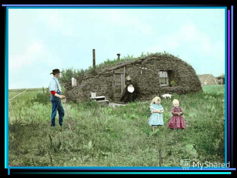 Май 1862 года – закон о гомстедах Согласно этому закону, любой гражданин США, пожелавший стать фермером, достигший 21 года, мог переселиться на Дикий Запад и взять себе всего за 10 долларов надел земли в 65 га