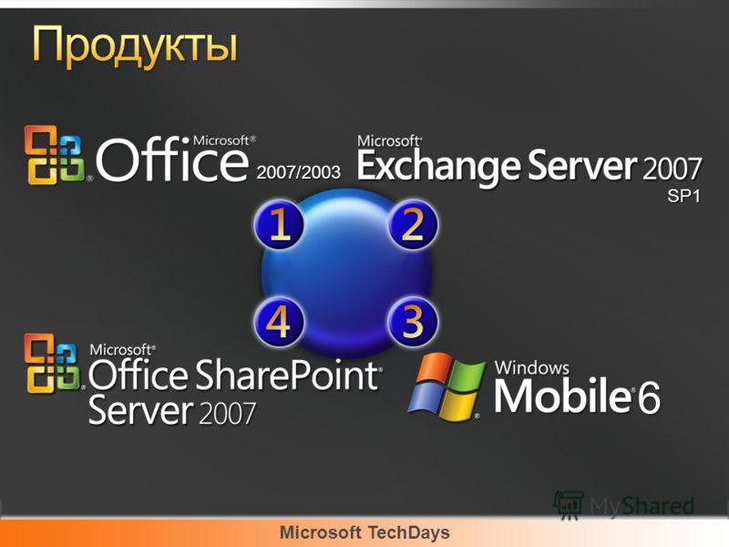 Microsoft TechDays 2007/2003 6 SP1