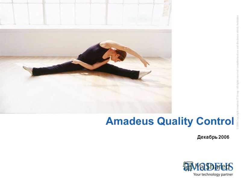 © 2006 Copyright Amadeus IT Group / all rights reserved / unauthorised use and disclosure strictly forbidden Amadeus Quality Control Декабрь 2006