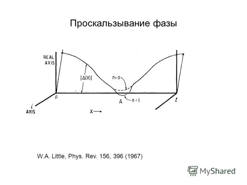 Проскальзывание фазы W.A. Little, Phys. Rev. 156, 396 (1967)