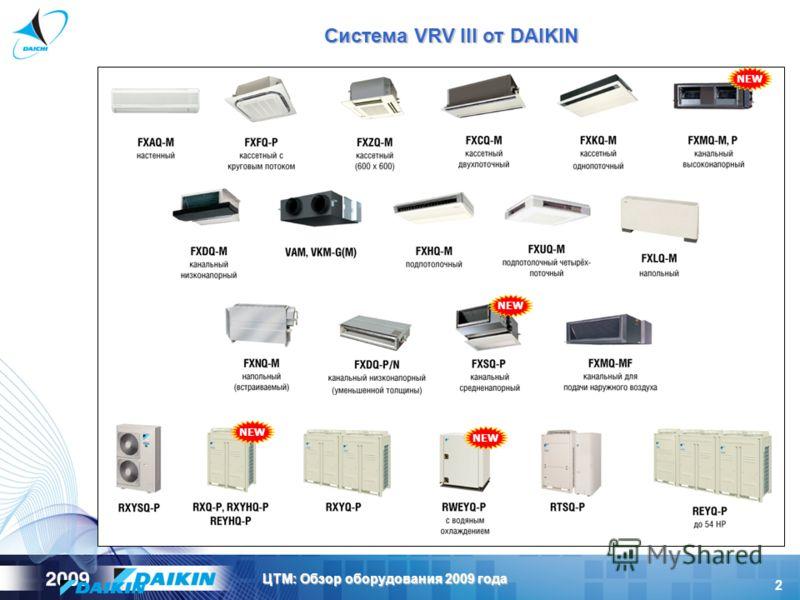 2 ЦТМ: Обзор оборудования 2009 года Система VRV III от DAIKIN NEW
