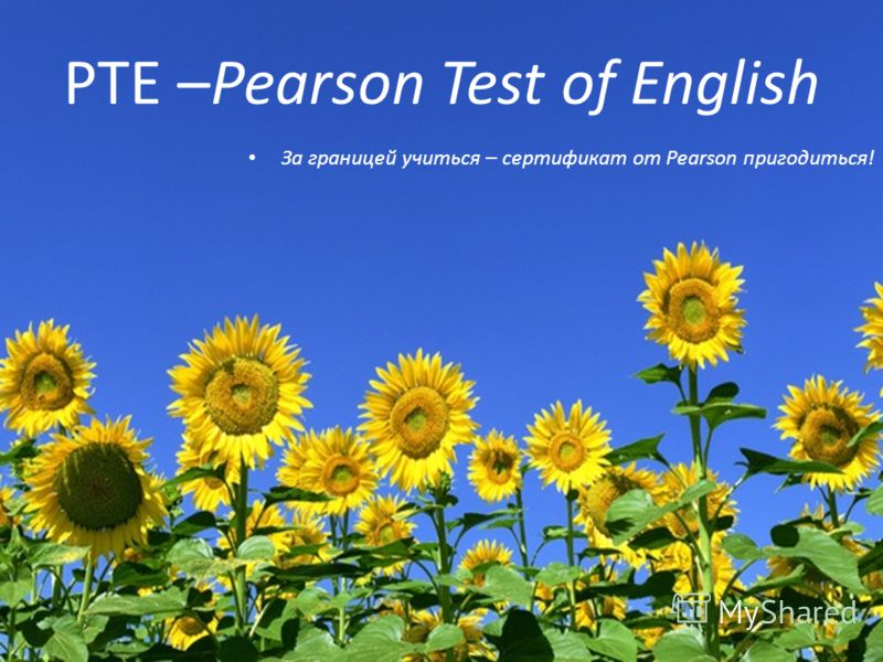 PTE –Pearson Test of English За границей учиться – сертификат от Pearson пригодиться!