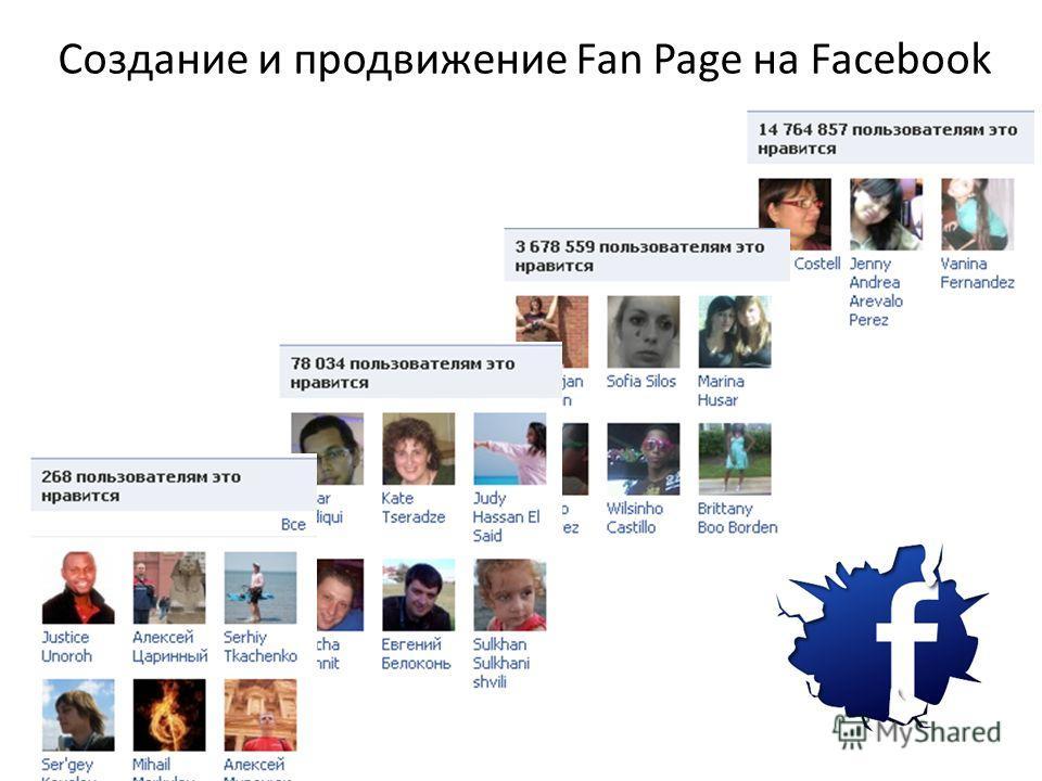 Создание и продвижение Fan Page на Facebook