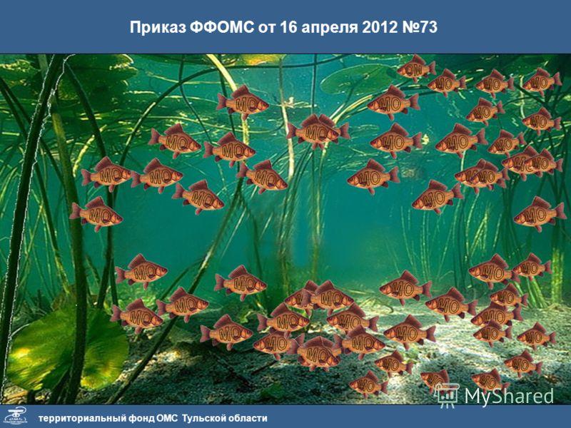 территориальный фонд ОМС Тульской области Приказ ФФОМС от 16 апреля 2012 73