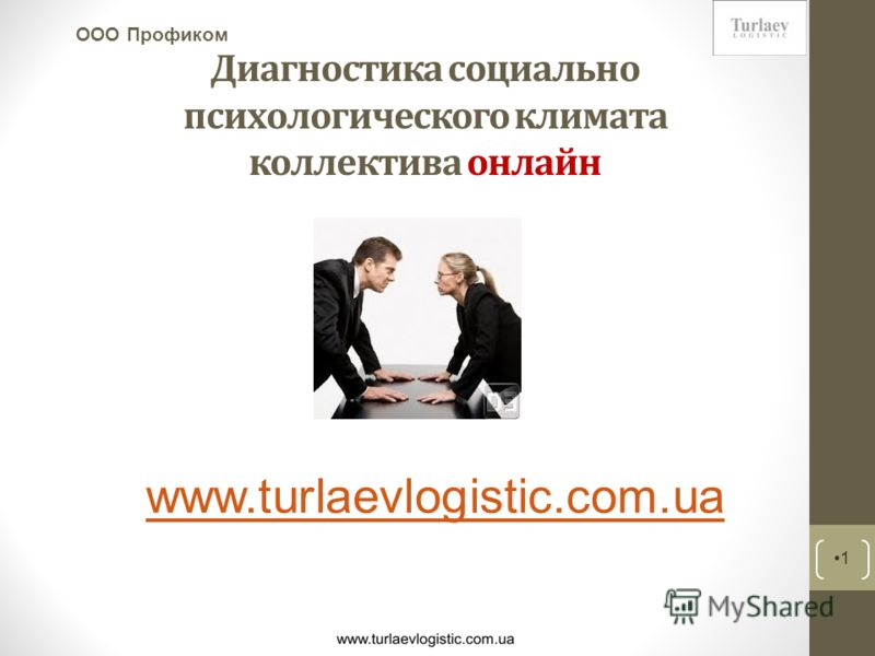 Диагностика социально психологического климата коллектива онлайн 1 ООО Профиком www.turlaevlogistic.com.ua