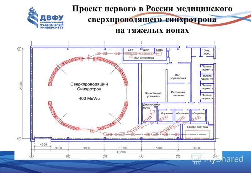 Проект первого в России медицинского сверхпроводящего синхротрона на тяжелых ионах