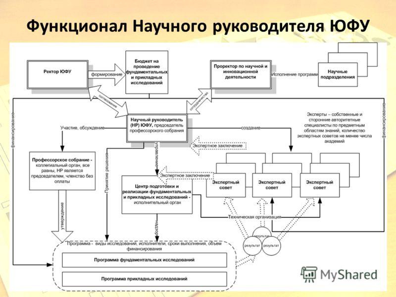 Функционал Научного руководителя ЮФУ