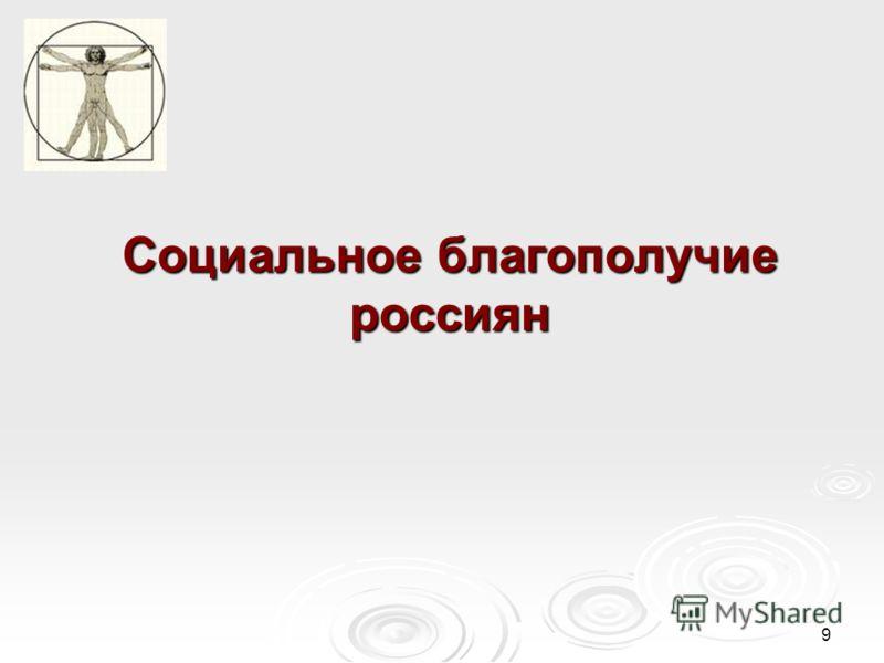 9 Социальное благополучие россиян