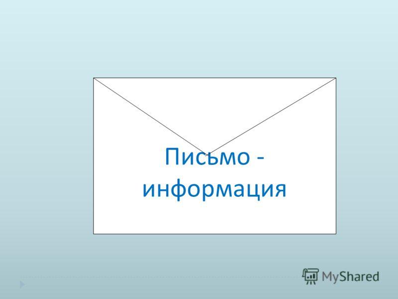 Письмо - информация