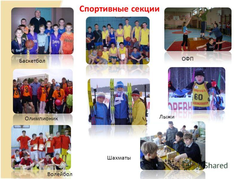 Спортивные секции Волейбол Лыжи Баскетбол Шахматы ОФП Олимпионик