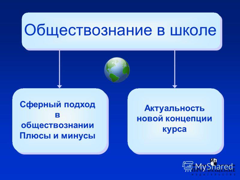 Сферный подход в обществознании Плюсы и минусы Обществознание в школе Актуальность новой концепции курса