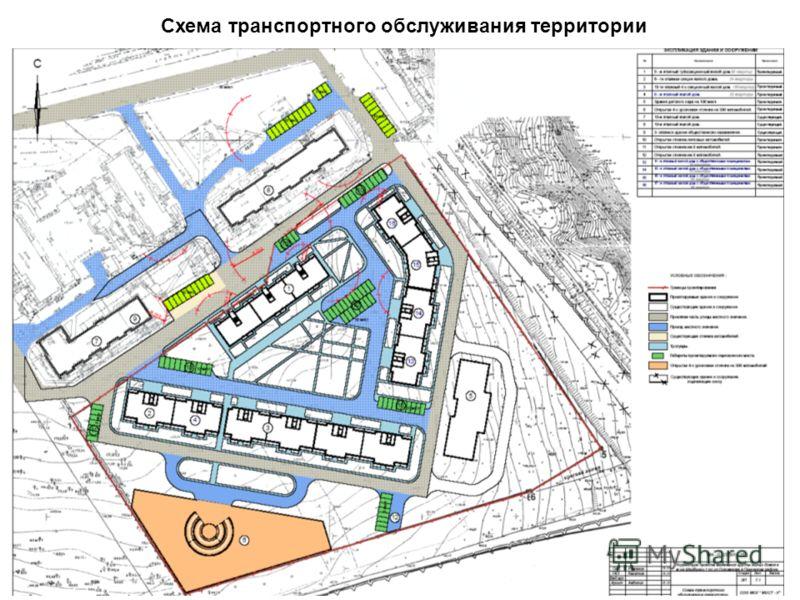 Схема транспортного обслуживания территории