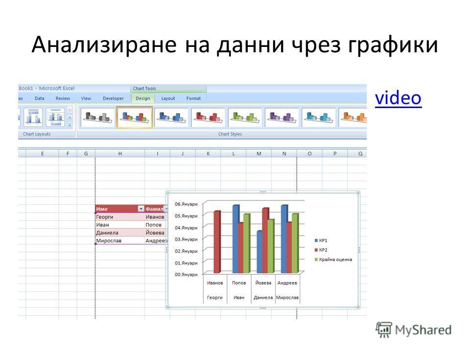 Анализиране на данни чрез графики video
