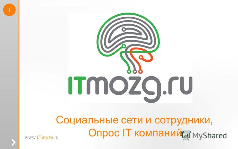 www.ITmozg.ru 1 Социальные сети и сотрудники, Опрос IT компаний