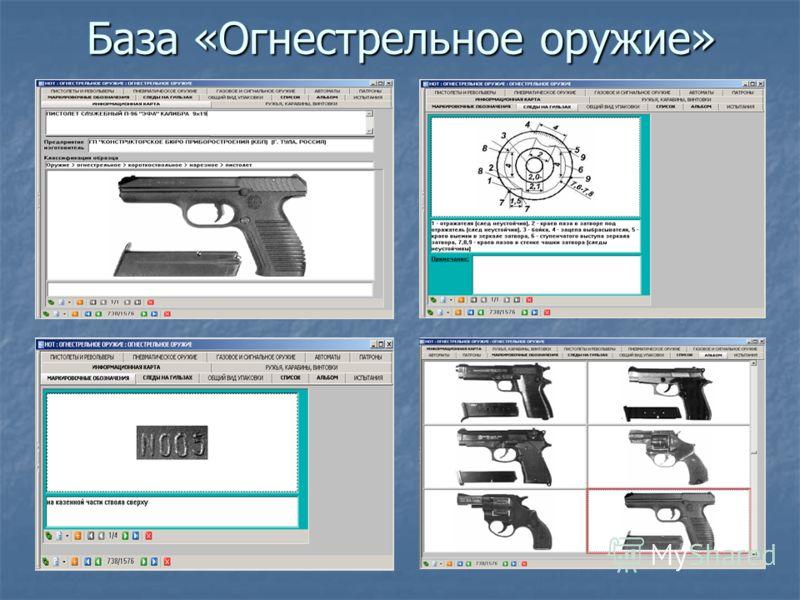 База «Огнестрельное оружие»