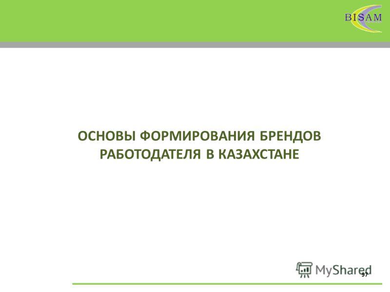97 ОСНОВЫ ФОРМИРОВАНИЯ БРЕНДОВ РАБОТОДАТЕЛЯ В КАЗАХСТАНЕ