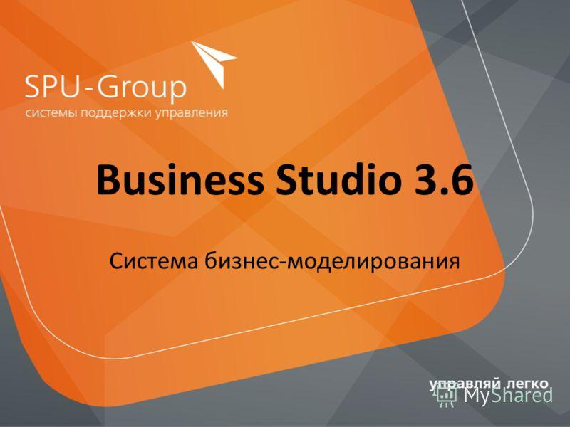 Business Studio 3.6 Система бизнес-моделирования