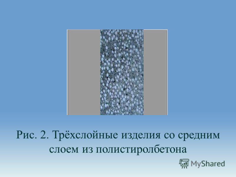 Рис. 2. Трёхслойные изделия со средним слоем из полистиролбетона
