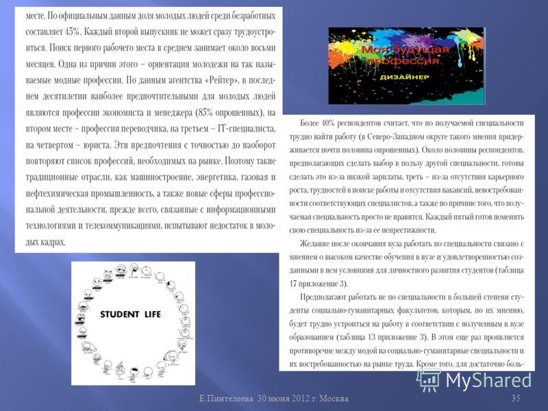 Е. Пинтелеева 30 июня 2012 г. Москва 35