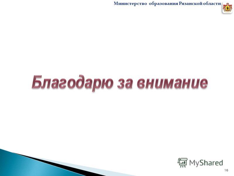 16 Министерство образования Рязанской области