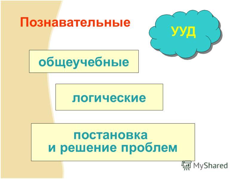 Познавательные общеучебные логические постановка и решение проблем УУД