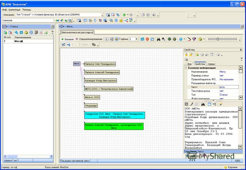 Обзор ИАС «Семантический архив» 2.618