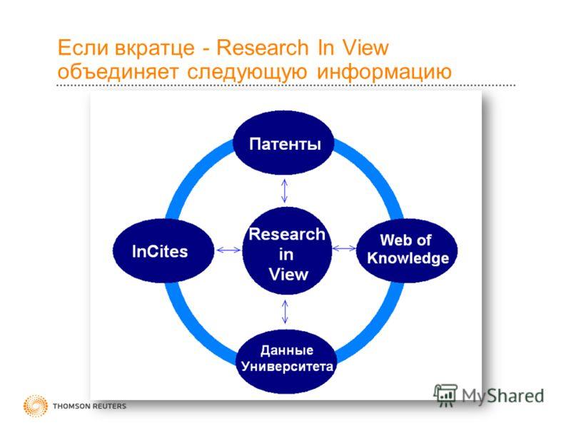 Если вкратце - Research In View объединяет следующую информацию