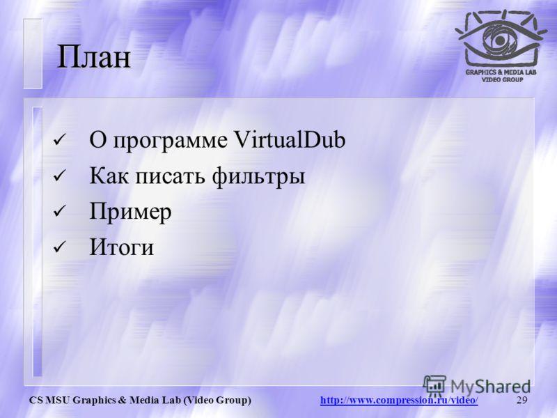 28 VirtualDub Лучшая программа для работы с потоковым видео