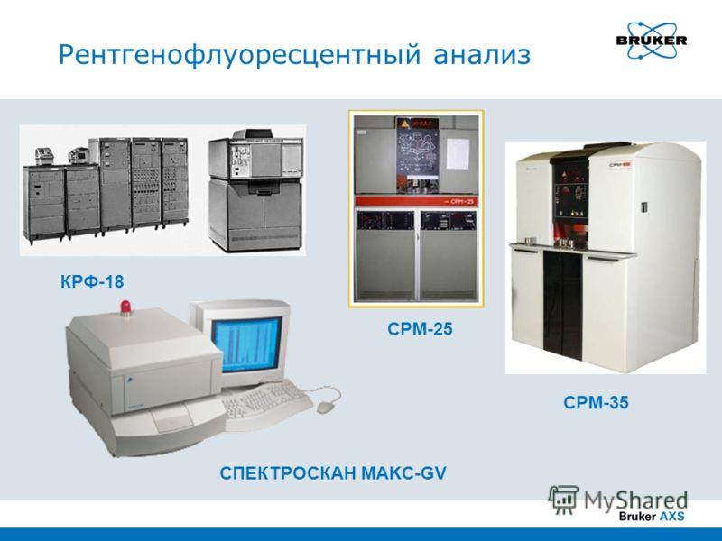 Рентгенофлуоресцентный анализ КРФ-18 СРМ-25 СРМ-35 СПЕКТРОСКАН MAKC-GV