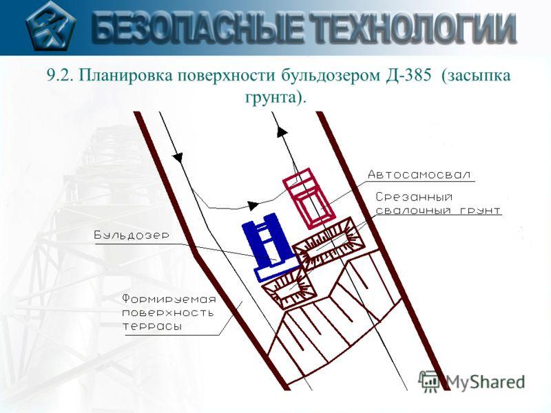 9.2. Планировка поверхности бульдозером Д-385 (засыпка грунта).