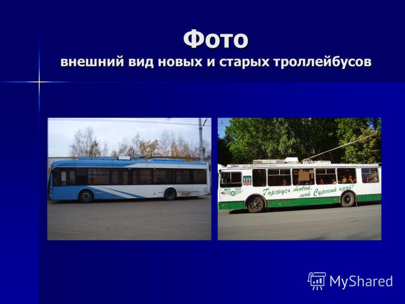 Фото внешний вид новых и старых троллейбусов