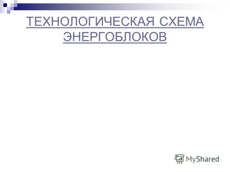 ТЕХНОЛОГИЧЕСКАЯ СХЕМА ЭНЕРГОБЛОКОВ