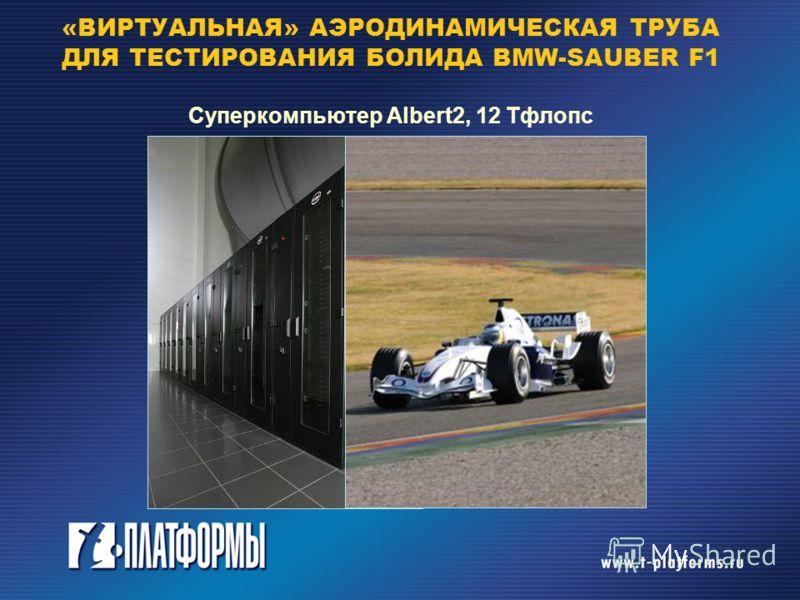 «ВИРТУАЛЬНАЯ» АЭРОДИНАМИЧЕСКАЯ ТРУБА ДЛЯ ТЕСТИРОВАНИЯ БОЛИДА BMW-SAUBER F1 Суперкомпьютер Albert2, 12 Тфлопс