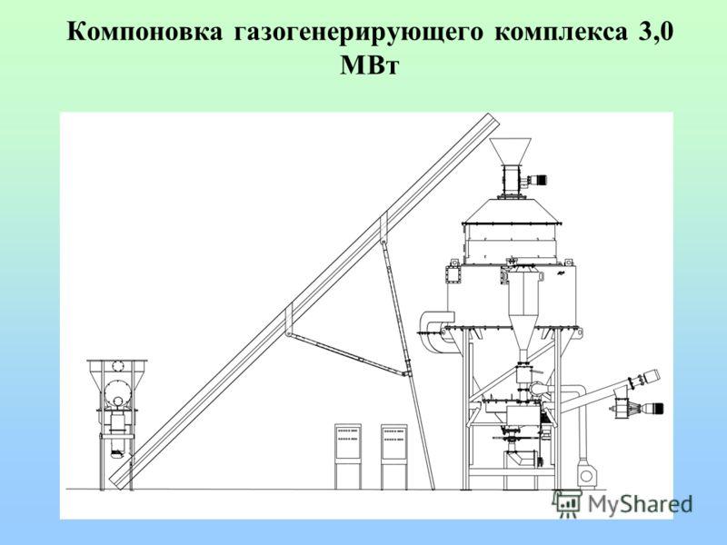 Компоновка газогенерирующего комплекса 3,0 МВт