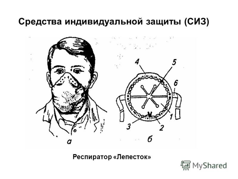 Респиратор «Лепесток» Средства индивидуальной защиты (СИЗ)
