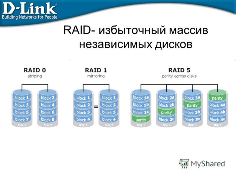 RAID- избыточный массив независимых дисков