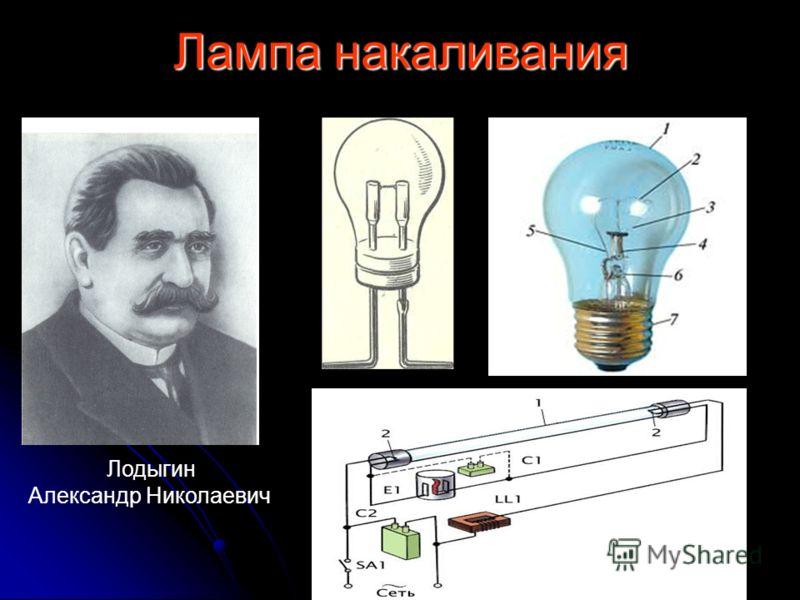 Лампа накаливания Лодыгин Александр Николаевич
