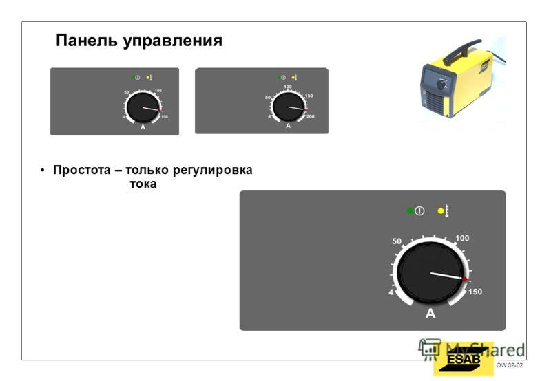 Jan 2002 / OW OW 02-02 Панель управления Простота – только регулировка тока