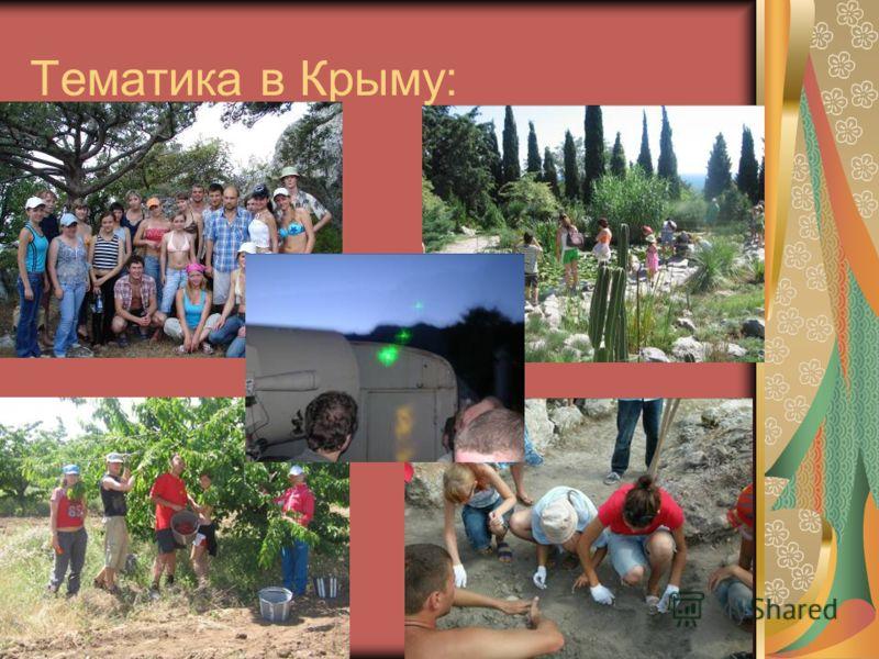 Тематика в Крыму: