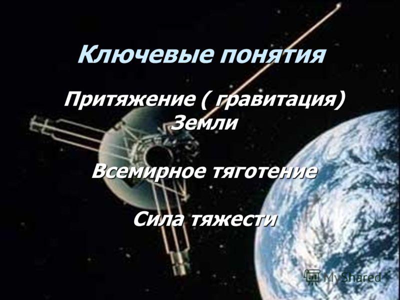 44 Ключевые понятия Притяжение ( гравитация) Земли Всемирное тяготение Сила тяжести