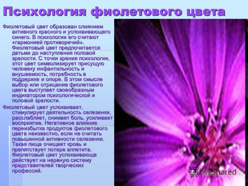 Означает цвет фиолетовый