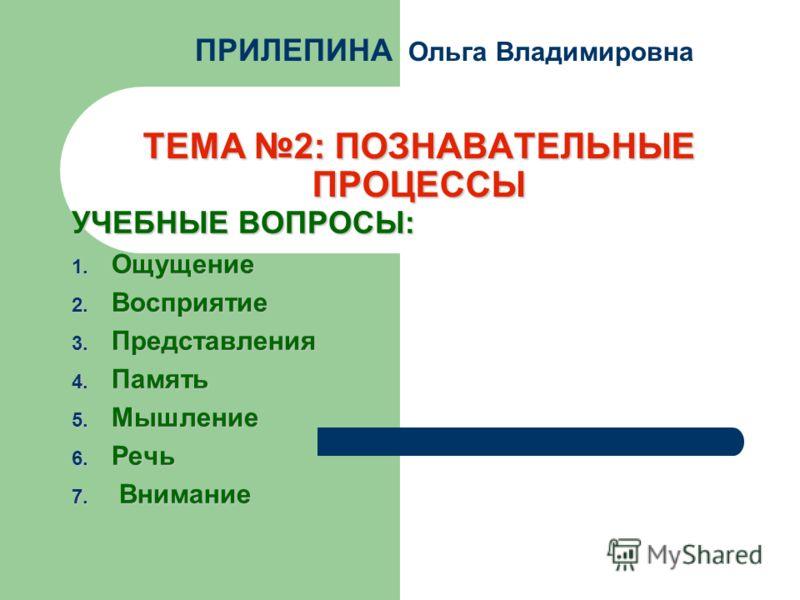 Презентация на тему ТЕМА ПОЗНАВАТЕЛЬНЫЕ ПРОЦЕССЫ УЧЕБНЫЕ  1 ТЕМА