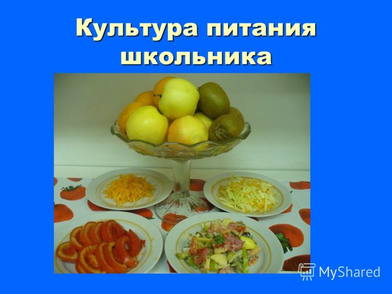 Культура питания школьника