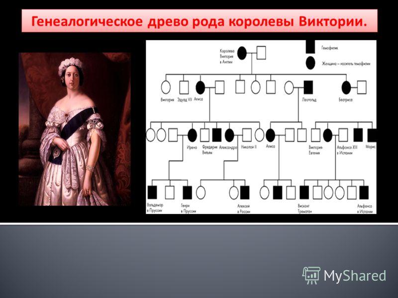 Генеалогическое древо рода королевы Виктории.
