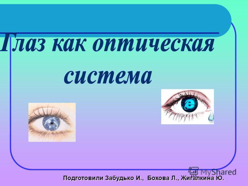 Подготовили Забудько И., Бохова Л., Жигалкина Ю.