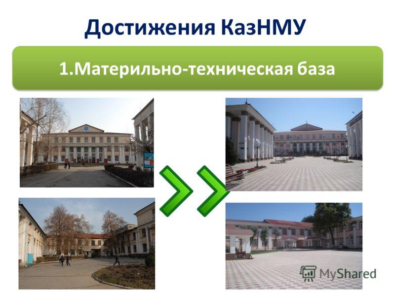 Достижения КазНМУ 1.Материльно-техническая база
