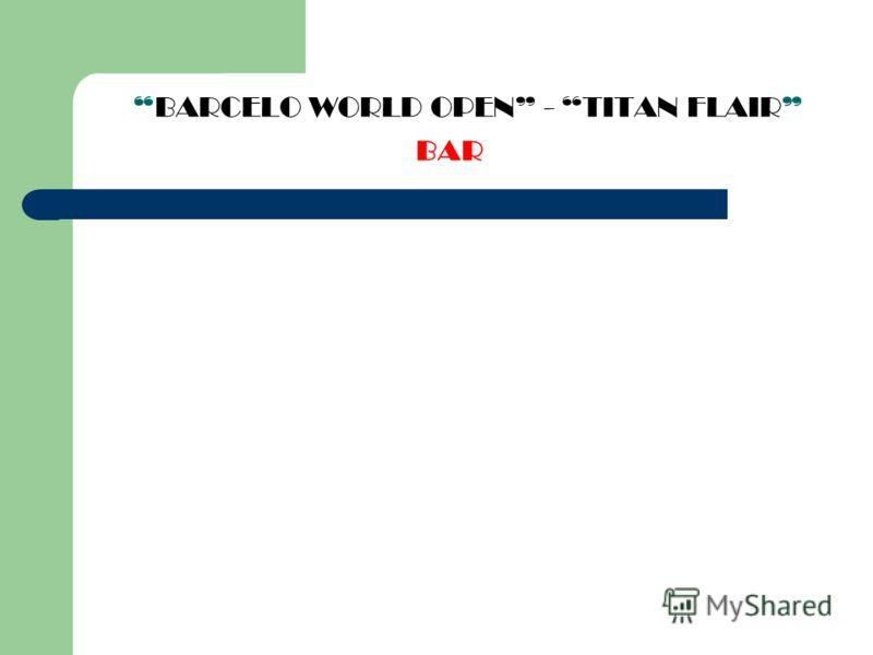BARCELO WORLD OPEN - TITAN FLAIR BAR