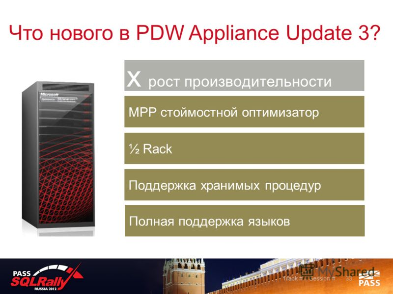 33Track # – Session # Что нового в PDW Appliance Update 3?