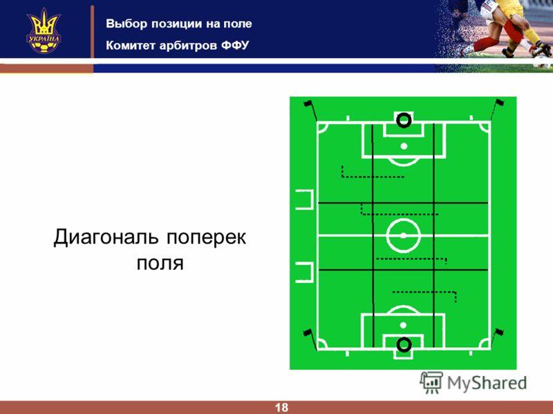 Выбор позиции на поле Комитет арбитров ФФУ 18 Диагональ поперек поля