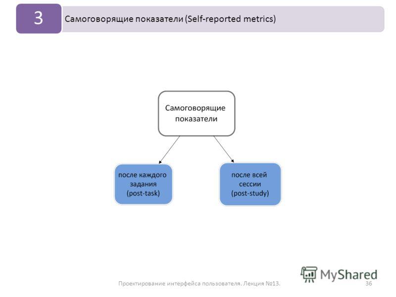 Проектирование интерфейса пользователя. Лекция 13.36 Самоговорящие показатели (Self-reported metrics) 3